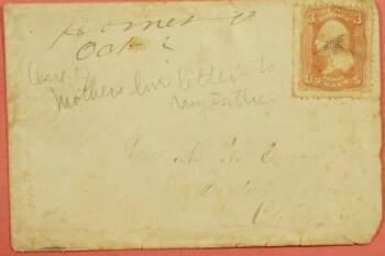 USA - 1860, 3C GRILL HOMER OHIO OH