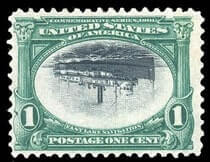 USA - 1901, Pan-American, 1¢ green & black, center inverted