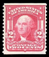 USA - 1908, 2¢ carmine, type II