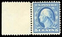 USA - 1909, 5¢ blue, bluish paper