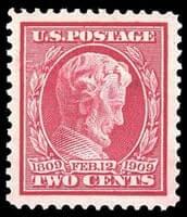 USA - 1909, 2¢ Lincoln, bluish paper