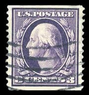 "USA - 1911, 3¢ deep violet, the ""Orangeburg"" coil"