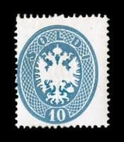ITALY - 1863, 10s Blue