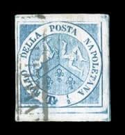ITALY - 1860, 1/2t Blue
