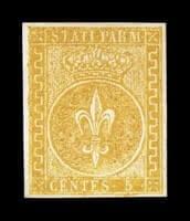ITALY - 1853, 5c Orange yellow