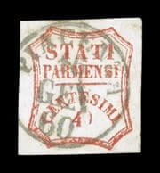 ITALY - 1859, 40c Vermilion