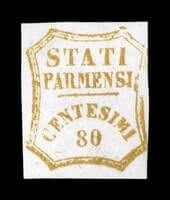 ITALY - 1859, 80c Orange bister