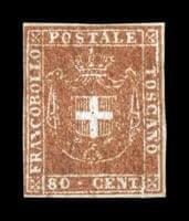 ITALY - 1860, 80c Flesh bister