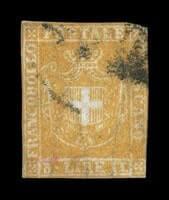 ITALY - 1860, 3L Yellow ocher