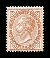 ITALY - 1863, 10c Orange ocher