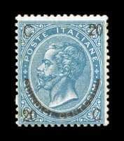 ITALY - 1865, 20c on 15c Blue, Ty. II