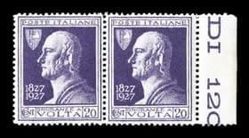 ITALY - 1927, 20c Violet Volta issue