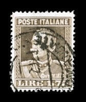 ITALY - 1929, 1.75 Brown, perforated 13 3/4