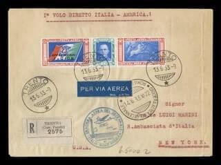 ITALY - 1933, 5.25L+19.75L Balbo North Transatlantic Flight
