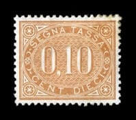 ITALY - 1869, 10c Orange brown