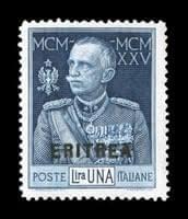 "ITALY - 1925, 1L King Victor Emmanuel with ""Eritrea"" overprint"
