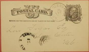 1884, DPO 1873-1914 GLENVILLE NEBRASKA NE