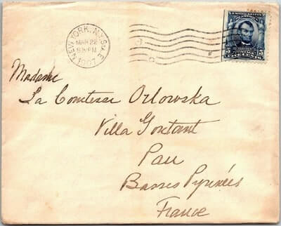 USA - 1907,US COVER, NEW YORK, NY.