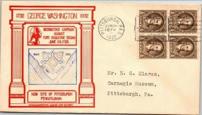 USA - 1932,US COVER, PITTSBURGH, PA.