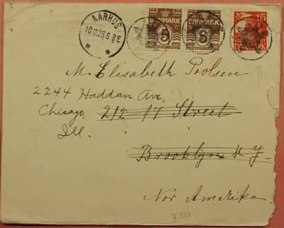DENMARK – 1928, DENMARK AARHUS TO USA