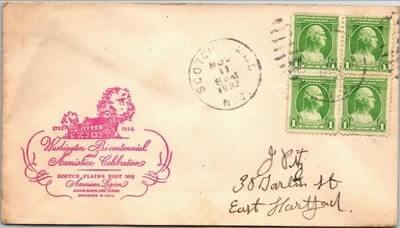 USA - 1932,US COVER, SCOTCH PLAINS, NJ.