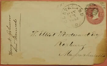 USA - 1862 CLEVELAND OH STATIONERY