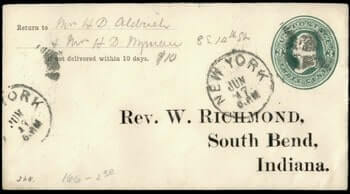 USA - 1880, NY STATIONERY