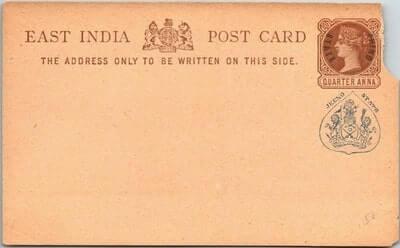INDIA QUEEN VICTORIA POSTAL CARD