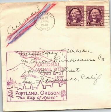 USA - 1938, US AIR MAILCOVER, PORTLAND, OR.