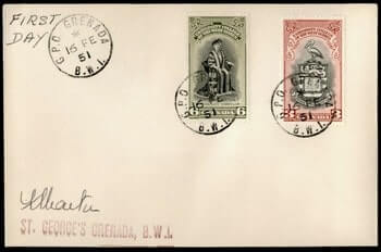 1951, GRENADA UNIVERSITY COLLEGE OF WEST INDIES FDC