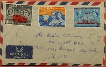 GRENADA – 1961, GRENADA AIRMAIL TO USA