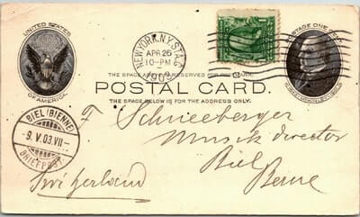 USA – 1903, US POSTAL CARD, NEW YORK, NY.