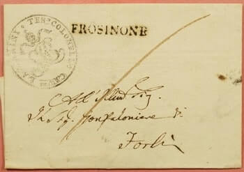 1817, ITALY STAMPLESS F/L FROSINONE