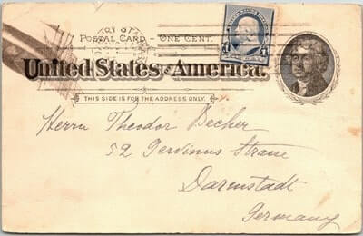 USA – 1894, US POSTAL CARD, MA.