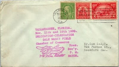 USA – 1929, US COVER, TALLAHASSEE, FL.