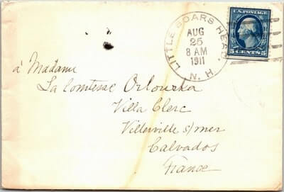 USA – 1911, US COVER, LITTLE BOARS HEAD, NH.