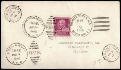 USA - 1948, SUSPENSION BRIDGE NY TRANSFER OFFICE RPO MULTI CANCEL