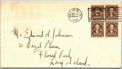 USA - 1932, US COVER, WALL STREET STA., NY.