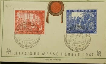 1947, GERMANY LEIPZIGER MESSE CARD
