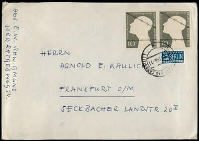 GERMANY – 1953, STUTTGART PAIR