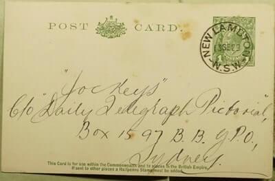 AUSTRALIA - 1929, NEW LAMBTON POSTAL CARD TO SYDNEY