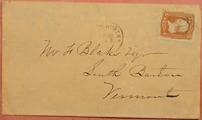 USA - 1860, NEW LONDON & NORTHERN RR RPO