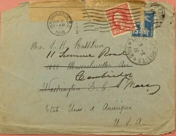 FRANCE – 1916, FRANCE MILITARY TO USA MIXED FRANK FORWARDED WWI CENSORED