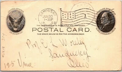 USA - 1903,US POSTAL CARD, SANDUSKY, OH.