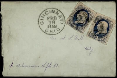 USA - 1890, CINCINNATI OH FANCY CANCEL 2 DROP LETTER