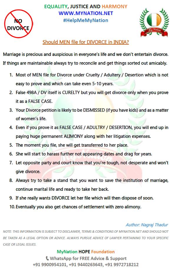 Men should file Divorce or Not