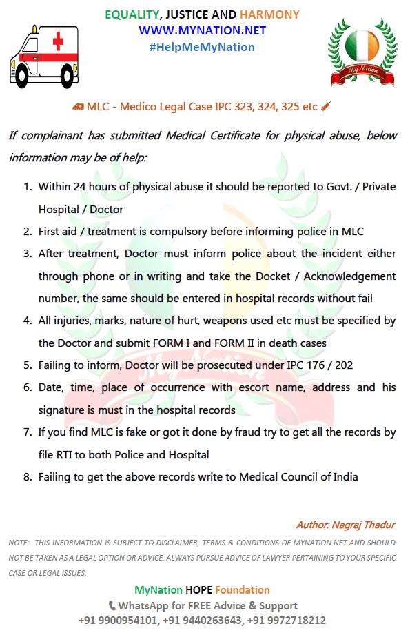 Tips for Medico Legal Case