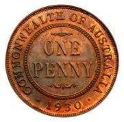 Australian 1930 Proof Penny