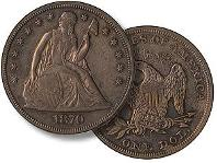 Eliasberg 1870 Seated Liberty Dollar